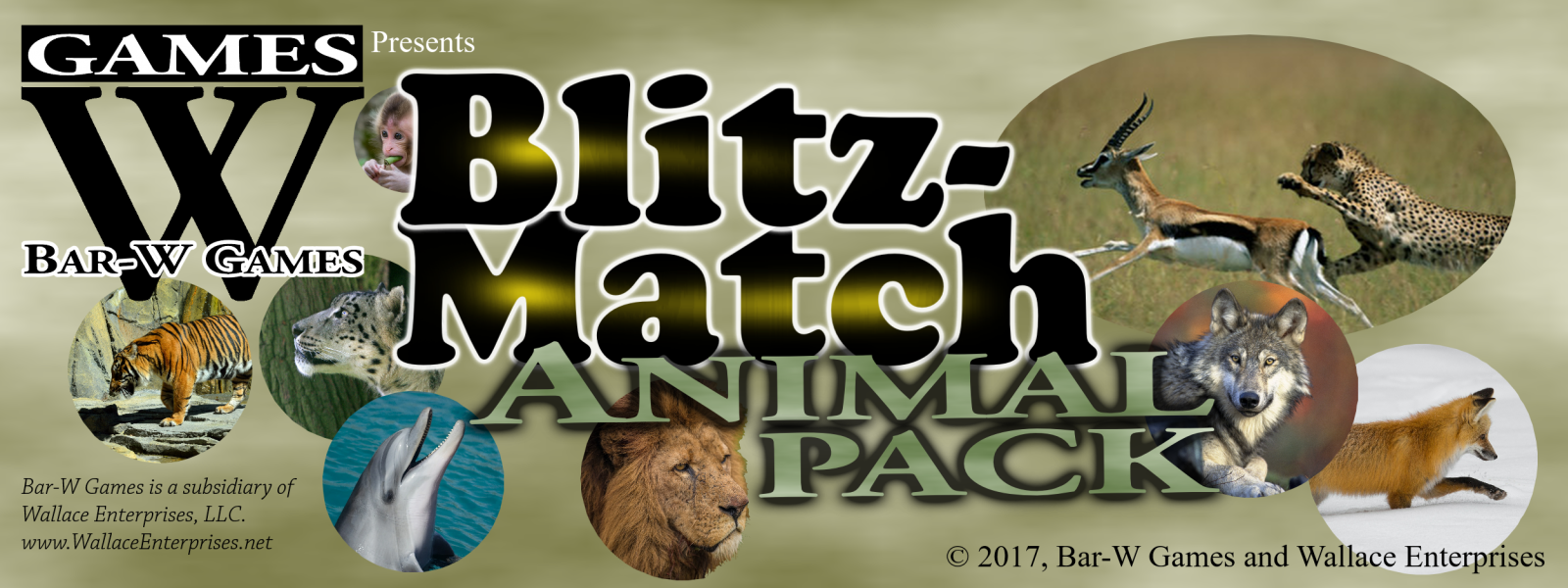 Blitz-Match Animal Pack Matching Card Game Banner